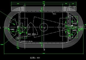 400米标准跑道详细平面图_t3