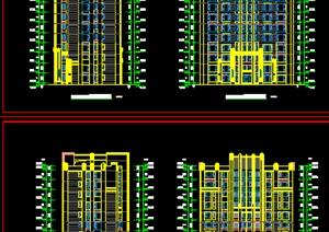 现代风格高层住宅建筑施工图