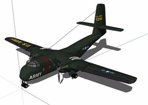 独特造型的美式飞机设计SU(草图大师)模型