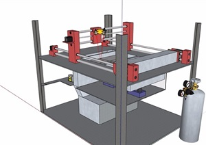 激光打印机设计SU(草图大师)模型