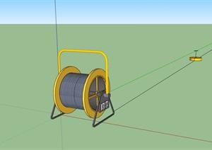 某詳細的線圈素材設計SU(草圖大師)模型