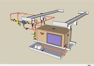 某工业电器设备素材设计SU(草图大师)模型