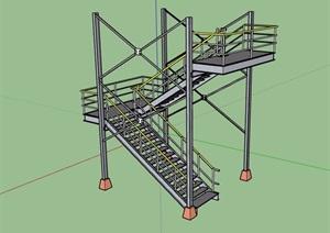 多层建筑楼梯素材设计SU(草图大师)模型