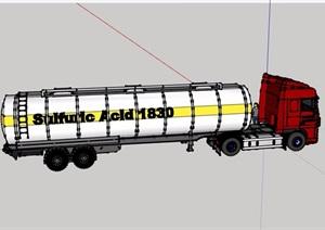 油罐大型车设计SU(草图大师)模型