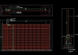 铁丝网围墙做法施工图详图
