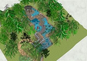 广场后花园庭院SU(草图大师)模型