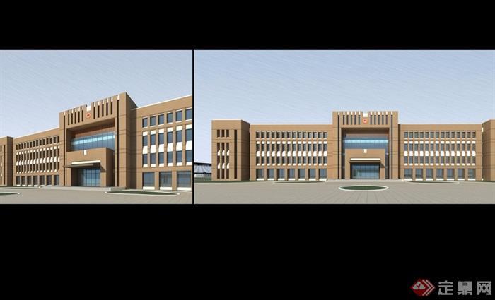 现代完整详细多层办公楼建筑设计jpg方案[原创]
