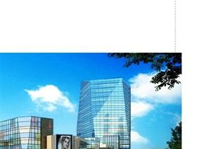 某城市科技广场西侧地块规划设计(CAD+文本)