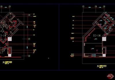 某现代风格样板间室内设计cad施工图