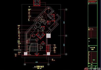 四种不同的户型样板间设计cad施工图