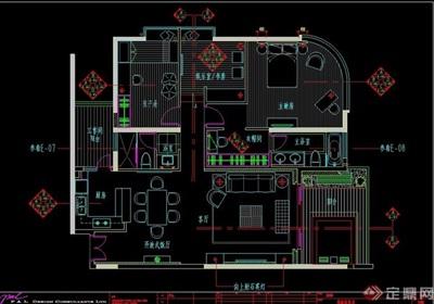 泰式风格详细的室内住宅空间设计cad施工图