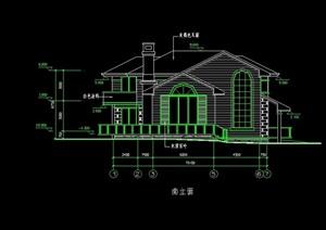 独栋别墅cad方案