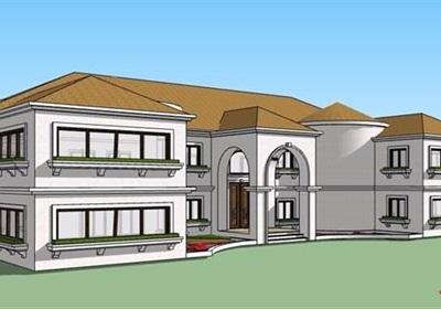 欧式风格二层精品别墅建筑su模型