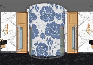 桑拿房室内空间设计SU(草图大师)模型