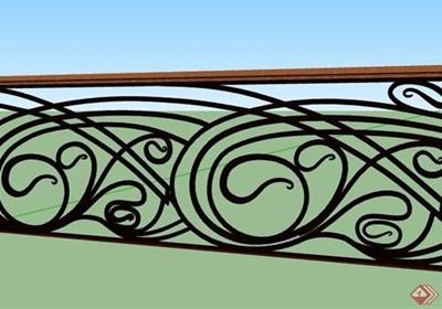 精致铁艺护栏设计su模型