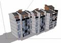 中式多层小区住宅楼建筑设计su模型