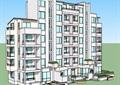 某现代风格7层住宅楼建筑设计su模型