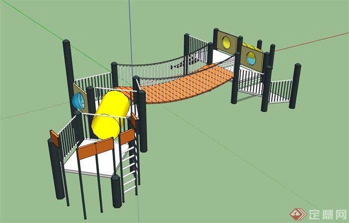现代小区儿童游乐设施素材su模型[原创]