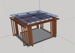 玻璃凉亭详细设计SU(草图大师)模型