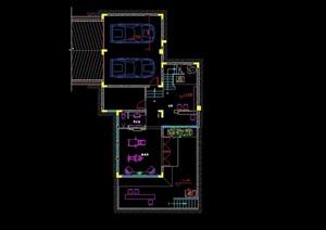 某欧式风格详细住宅别墅室内施工图