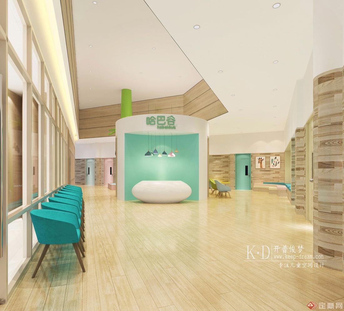 10-哈巴谷早教中心大厅设计