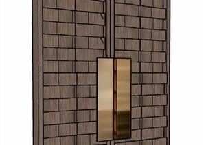 雙開門門扇大門設計SU(草圖大師)模型