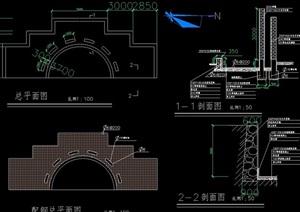 水池景观设计cad施工图