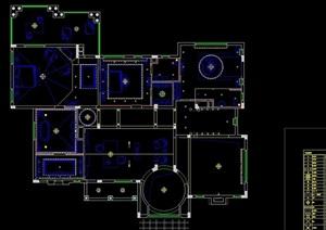 某欧式风格室内别墅cad施工图