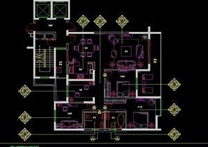 现代风格别墅会所室内样板房cad施工图