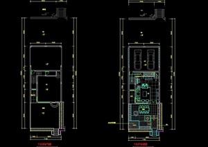 現代住宅室內空間cad施工圖