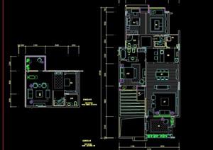 現代住宅室內詳細設計cad施工圖