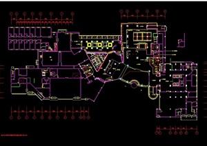 某大酒店公共区域部分设计cad施工图
