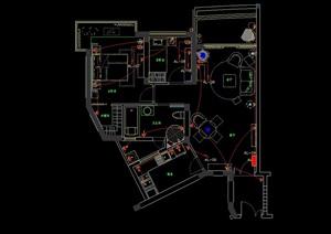 某現代住宅室內cad方案圖