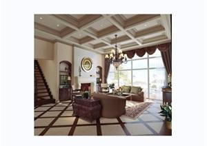 某現代住宅樣板房室內設計cad施工圖