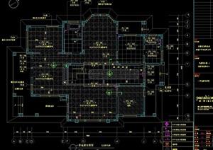 某現代完整的別墅精裝修設計cad施工圖