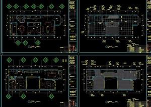 某住宅戶型樣板房裝飾設計cad施工圖