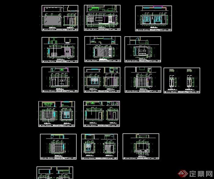 某住宅样板房室内设计cad施工图