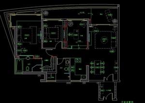 某住宅戶型樣板間室內設計cad圖紙