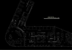 某展覽展示空間室內設計cad施工圖