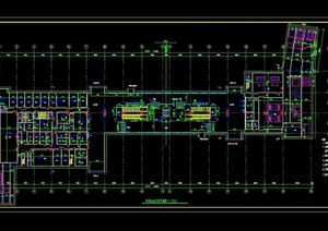 某地鐵車站平面建筑設計cad方案