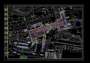 某地鐵平面規劃設計cad方案