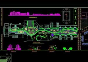 某商业步行街规划设计总平面图