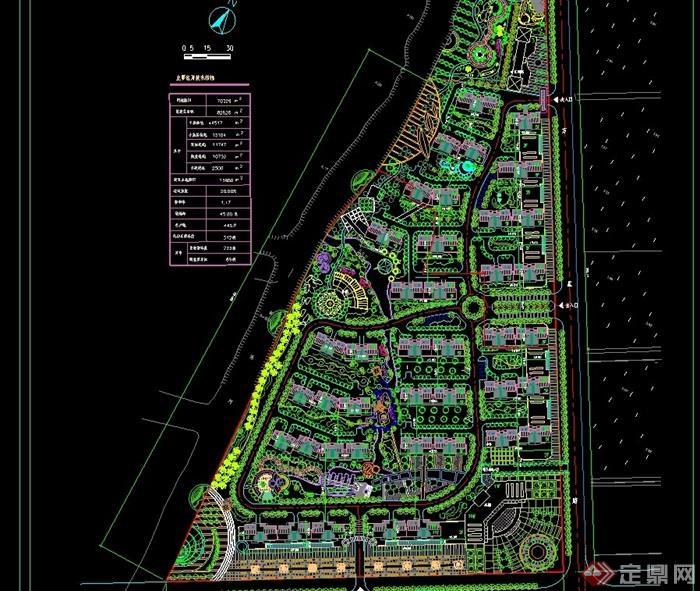 中新花园别墅方案规划设计cad别墅新沛县小区二手汉城图片