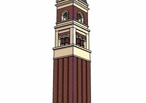 英倫風精致塔樓設計SU(草圖大師)模型