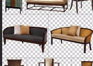 八款中式风格家具psd分层素材