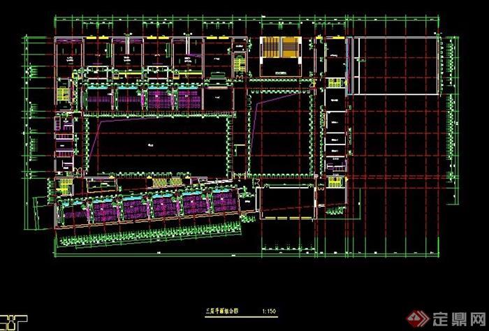 某小学4层教学楼建筑平面图
