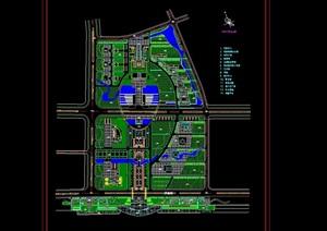 行政中心区规划设计cad方案