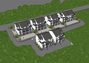 新中式乡村别墅、安置房