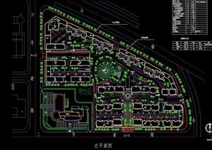 某现代详细小区规划设计cad方案图