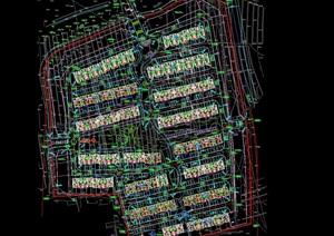 某小区建筑小区规划设计cad方案平面图